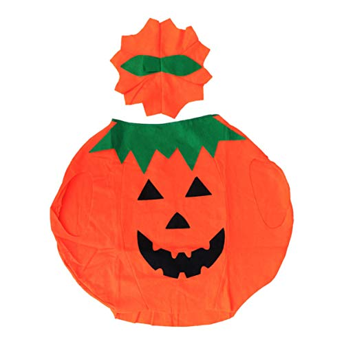 Healifty 2 stücke Halloween Kinder kürbis kostüm Cape Hut Set für Kind Halloween Party Cosplay kostüm Outfits Dress up - Hut Und Cape Kostüm