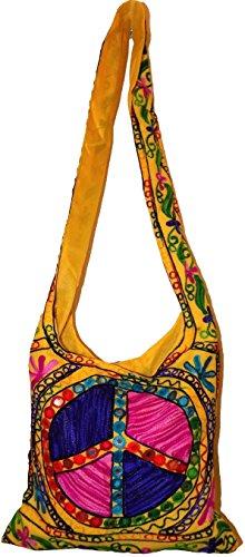 Floral CND Peace Hippie Bag