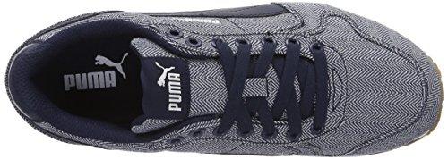 Puma Unisex-Erwachsene St Runner Herringbone Low-Top Blau (peacoat-peacoat 01)