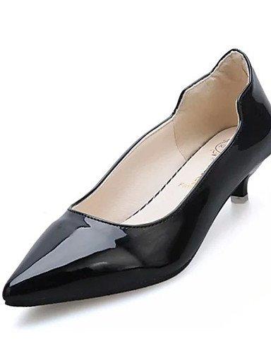 GS~LY Damen-High Heels-Lässig-PU-Niedriger Absatz-Absätze-Schwarz / Rot / Weiß / Grau black-us6.5-7 / eu37 / uk4.5-5 / cn37