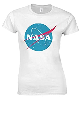 Nasa National Space Administration Logo White Women T Shirt Top-M