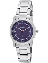 Maxima Attivo Steel Analog Purple Dial Women's Watch - 28023CMLI