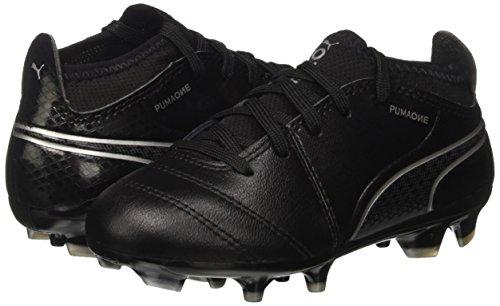 Puma Unisex Kids  ONE 17 3 AG Jr Football Boots  Black-Silver 03  13UK Child