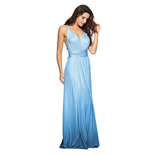 96cab67dab4 IBTOM CASTLE Women s Party Wedding Evening Dress Sexy V-Neck Convertible  Wrap Backless Cocktail Prom
