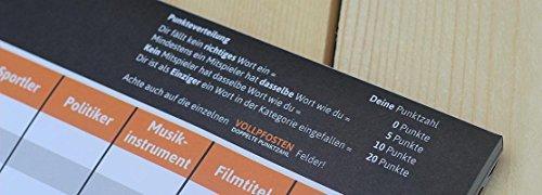 DENKRIESEN Stadt Land Vollpfosten - Intelligenz-ist-relativ - Stadt Land Fluss neu aufgelegt - Spielblock (Din A3-Format), XXL Spielblock - 5