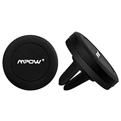 Car Mount 1+1, Mpow Universal Magnetic Car Phone Holder Stick on Flat Dashboard, Universal Mobile Phone Air Vent Magnetic Car Cradle Holder for iPhone 7/6/6 Plus/5 Nexus 7 Samsung S6/S5 Note 5/4/3 Huawei P9 and other Andriod Cellphones
