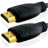 Câble 1m HDMI Basic de Cablesson Haut Débit Ethernet - Version 2.1/2.0; 21 Gbps, pour PS4, Canalsat, beIN, Orange TV box, Freebox, SFR Box TV, Bbox, Full HD, 2160p, LCD, PLASMA & LED TV, 4k et 3D TVs