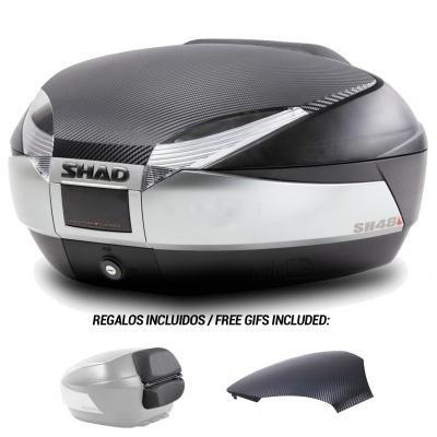 675ae4ba SHAD - D0B48206R : Koffer oder Tasche hinten, für Roller oder Motorrad SH48  Antracite/