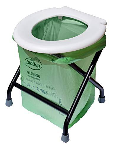 24ocean Mobile Klapptoilette weiß mit kompostierbaren Beuteln WC Klo klappbar