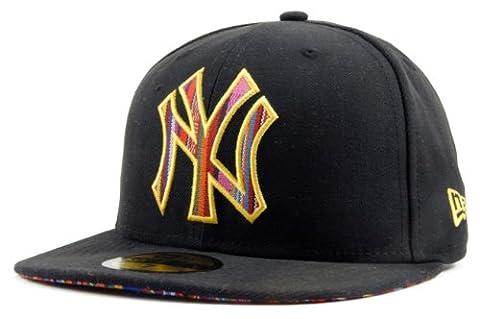 New York NY Yankees MLB Noir / Multicoloured Stripe O