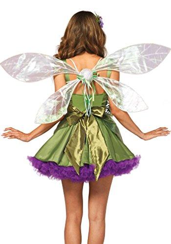 Karneval Klamotten Kostüm Flügel Sexy Fee Dame Luxus Zubehör Fasching Karneval (Leg Avenue Fee-kostüm)