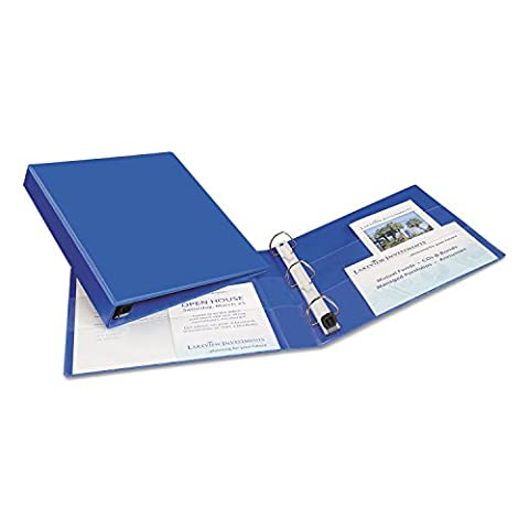 Heavy-Duty Vinyl EZD Ring Reference Binder, 1Capacity, Blue, Sold as 1Each (Avery Dennison Vinyl)