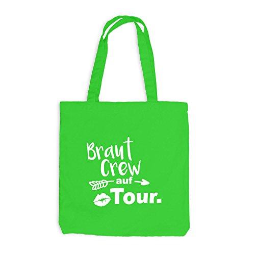 Borsa Di Juta - Jga Bride Crew On Tour Lips Arrow - Bachelor Party Light Green