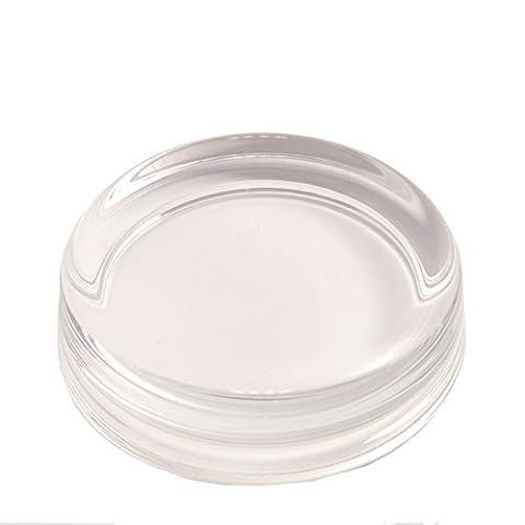 Blank Glass Paperweight Self Adhesive Base Printed Insert/Photo/Cross Stitch Company Logo - 70mm Diameter GP1 - Pack of