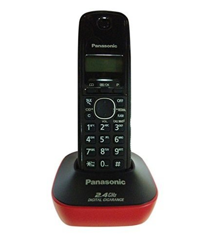 Panasonic KX-TG3411SXR 2.4 Digital Cordless Phone (Red)  available at amazon for Rs.1600