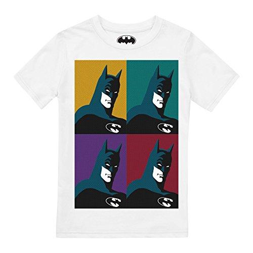 DC Comics Jungen Pop Art T-Shirt, Weiß (White), XXL -