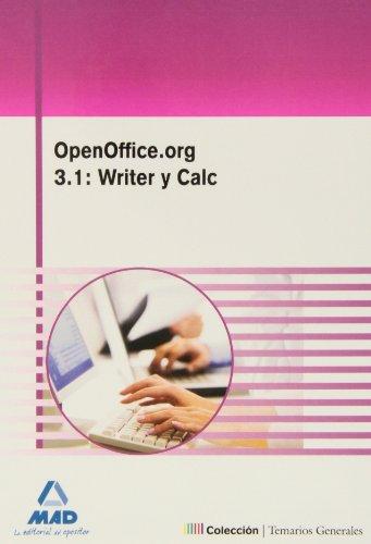 Openoffice.Org 3.1: Writer Y Calc por Alvarez Fernandez Jose Luis