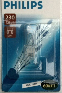 Philips Halogen 60W 230V G9 brillant