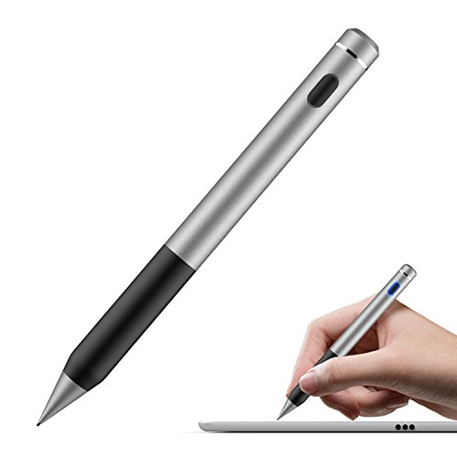 MoKo Penna Capacitiva Attiva, Punta Fine & Sensibile 1.5mm Active Stylus Stilo Universale, per Dispositivi Schermi Touch, iOS/Android/ Windows, iPad, iPhone, Samsung, ECC, Grigio Scuro