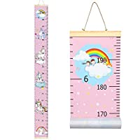 Sylfairy Baby Height Growth Chart Ruler for Kids, Roll-up Wall Ruler Removable Wall Hanging Measurement Chart 7.9