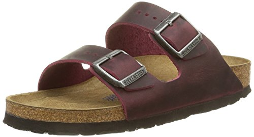 Birkenstock Arizona, Sandales Rouge (Zinfandel Soft Footbed)