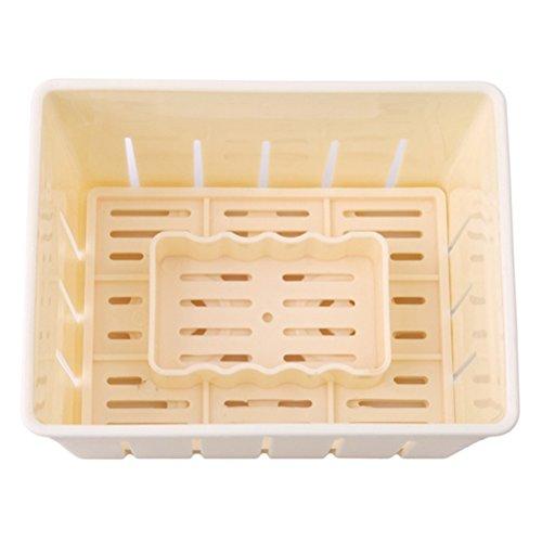 BESTONZON Tofu Presse Gebäckpresse Form Kunststoff Tofu Käse DIY Pressform Küche Werkzeug (Gelb)