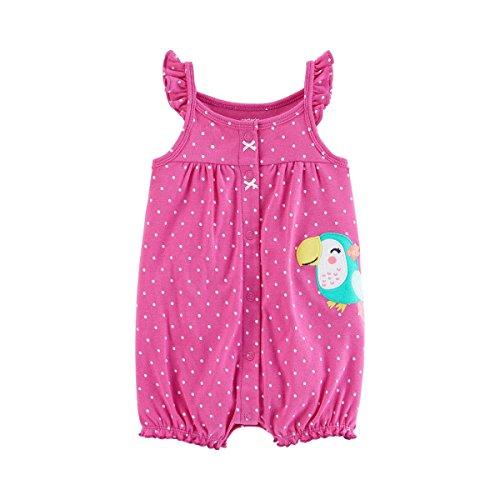 Carters Jumpsuit (CARTER´S Jumpsuit ohne Arm Punkte Tukan pink 80)