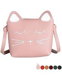 Kinder Kleinkind Rosa Kleine Mädchen Crossbody Geldbörse Nette Katze Schulter Tasche Für Mädchen