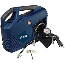 FERM CRM1049 Compressore  portatile- 1100W - Incl. tubo per aria compressa, gonfia pneumatici, estensione,valvola e adattatore universale