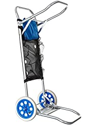 Carro portasillas Plegable de Camping y Playa Azul de Aluminio Nuevo y Mejorado - Sólo el