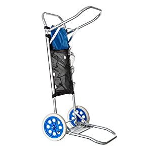 Carro portasillas plegable de camping y playa azul de aluminio nuevo y mejorado - LOLAhome