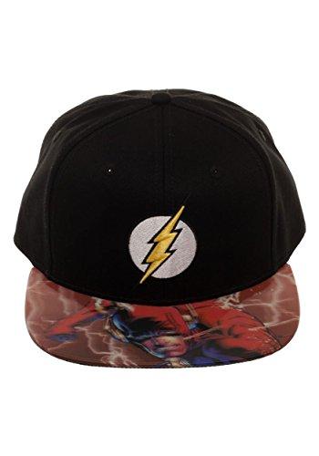 DC Comics The Flash Lightning Logo Sublimated Bill Snapback Casquette De Baseball
