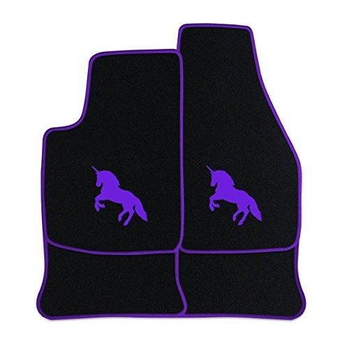fussmatten-aus-nf-velours-in-schwarz-mit-logo-einhorn-mittig-rand-logo-in-lila-203-fur-honda-civic-6