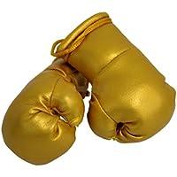 Mini Guantes de boxeo Oro, 1par (2pieza) Mini guantes de boxeo por ejemplo para Auto de espejo interior