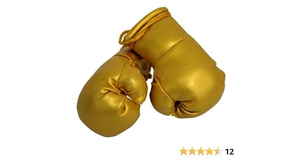 Sportfanshop24 Mini Boxhandschuhe Gold 1 Paar 2 Stück Miniboxhandschuhe Z B Für Auto Innenspiegel Auto