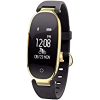 WMWMY Smart Women's Watch Watch avec Moniteur De Fréquence Cardiaque Fitness Sports Tracker Smart Fashion Bracelet Watch pour Iphone Android