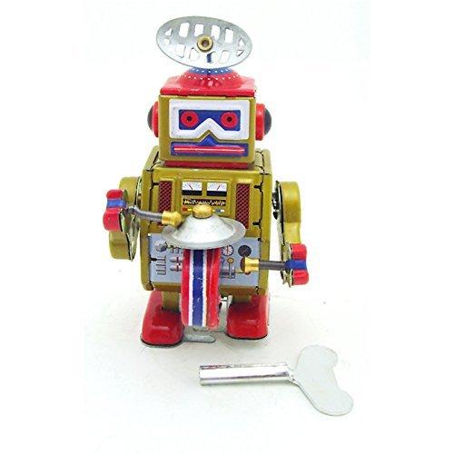 Kostüm Roboter Vintage - YTCWR Uhrwerkroboter, Spielzeug der Trommelwicklung