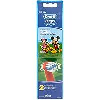 Oral-B Stages Power - Juego de 2 cabezales para cepillo eléctrico, diseño de Mickey Mouse