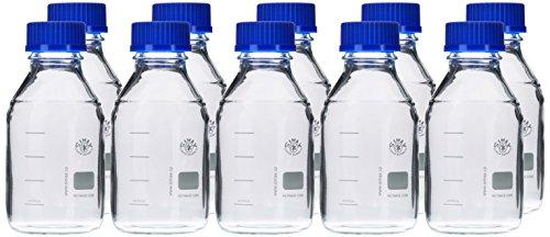 neoLab E-1431 Laborflaschen, GL 45, 500 mL, Iso-Gewinde, gebraucht kaufen  Wird an jeden Ort in Deutschland