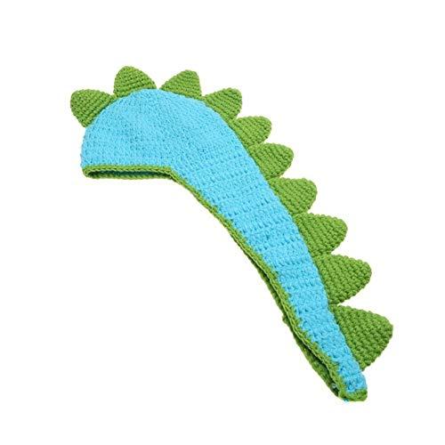 Niedliche Dinosaurier Kostüm Baby - Fliyeong niedliches Baby Dinosaurier Kostüm Foto Fotografie Requisite Häkelstrick Mützen Outfits für 0-6 Monate Neugeborene langlebig und nützlich