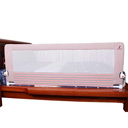 Bettgitter Extra Langer Bettgitter-Schutz, Premium-Bettgitter-Sicherheitsschutz für Kleinkinder Kinder Kinder, für Cabrio-Kinderbett, Kids Twin, Doppelbett Streifen Rot - Cabrio Kinderbett