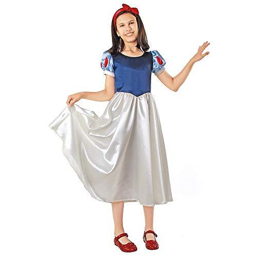 Prezer - costume da principessa delle fiabe, per bambini, colore: blu/bianco