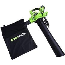 Greenworks Soplador / Aspirador / Triturador de hojas inalámbrico de 40V (sin batería ni cargador) - 24227