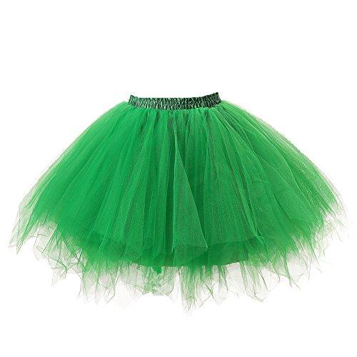 Honeystore Damen's Tutu Unterkleid Rock Abschlussball Abend Gelegenheit Zubehör Grün