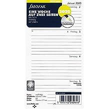 Filofax Kalendereinlage Personal 1 Woche auf 2 Seiten vertikal (deutsch)2020
