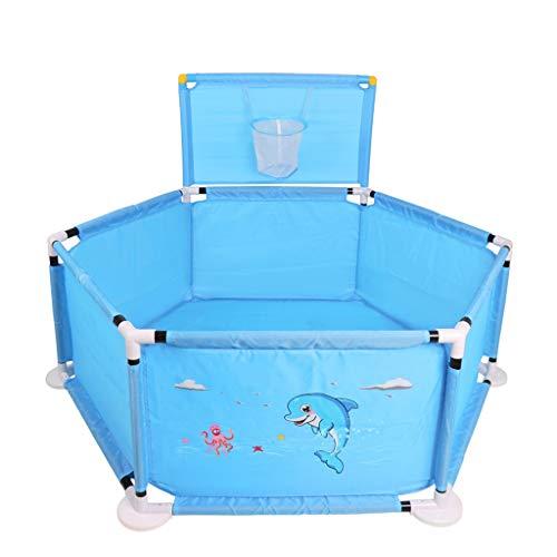 WYQ Laufgitter Ställe Baby-Laufstall, Sicherheitsgarderobe-Set, Laufgitter, 100 Kunststoffkugel Kids Activity Center für Mädchen und Jungen Blau, Pink (Farbe : Blau)