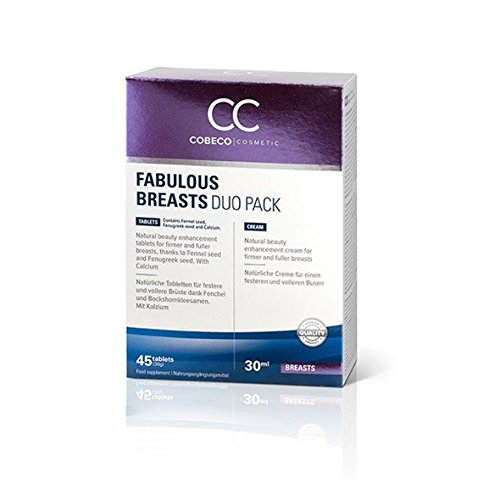 Cobeco Cosmetics CC Fabulous Breasts Duo 45 Tablets, 1er Pack (1 x 30 ml)