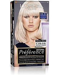 Préférence L'Oréal Paris Coloration Permanente 10.21 Blond Très Très Clair Perlé