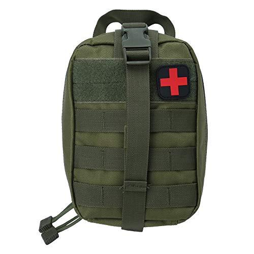 Outdoor Erste-Hilfe-Tasche Notfalltasche Medzinische Hilfe für Outdoor Aktivitäten wie Camping Radfahren Klettern Wandern ( Farbe : Grün )