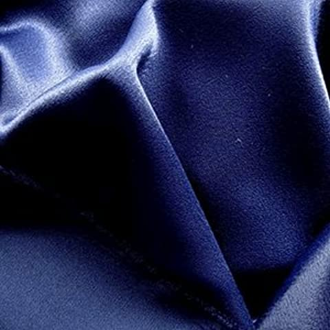 20mts Liquid Tela de raso costura - azul marino